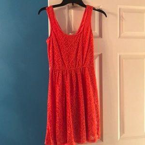 Mossimo orange floral crochet dress